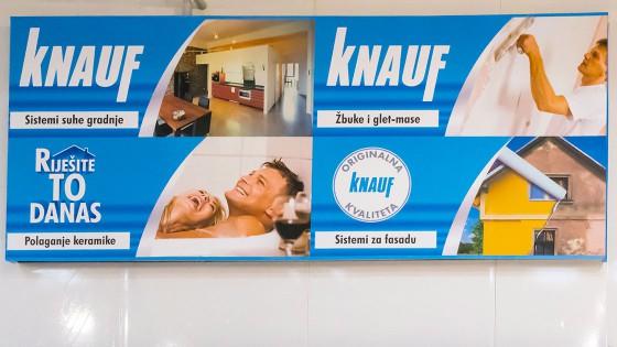 Izrada reklama - Knauf - Split, Dalmacija, Hrvatska
