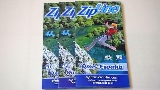 Tisak letaka - Zipline Croatia - Split, Dalmacija, Hrvatska