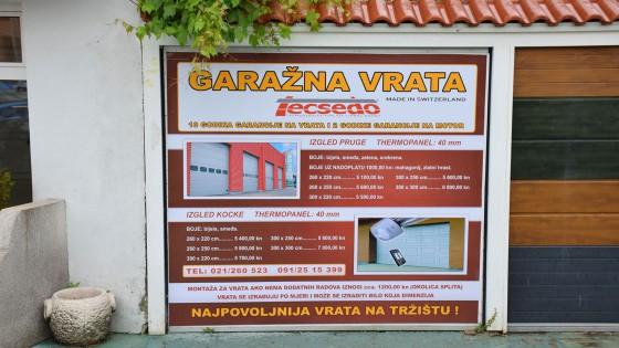 Oslikavanje izloga - Garažna vrata - Split, Dalmacija, Hrvatska