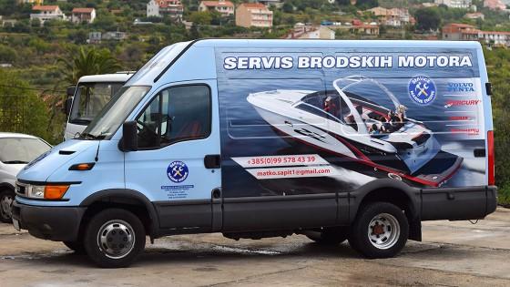 Oslikavanje kombija - Servis brodskih motora - Split, Dalmacija, Hrvatska