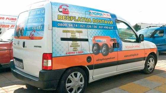 Oslikavanje vozila - Adria plin - Split, Dalmacija, Hrvatska