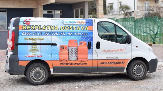 Oslikavanje vozila - kombi, Adria plin - Split, Dalmacija, Hrvatska