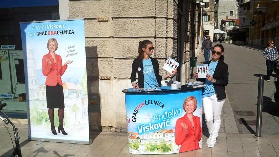 Sustavi za prezentaciju - promotivni stand - kampanja za gradonacelnika grada Splita - Split, Dalmacija, Hrvatska