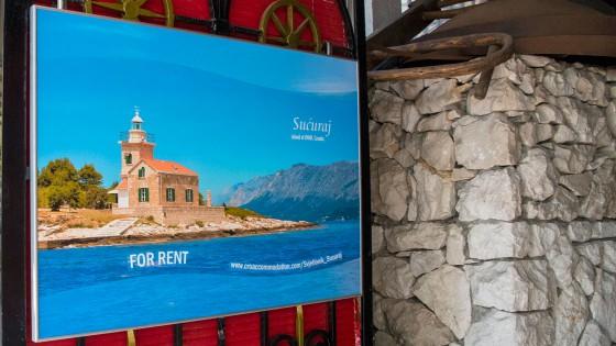 Sustavi za prezentaciju - reklamna tabla - Svjetionik Sucuraj - Split, Dalmacija, Hrvatska