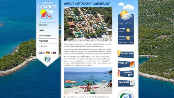 Izrada web stranica - web dizajn - autokamp Labadusa - Split, Dalmacija, Hrvatska