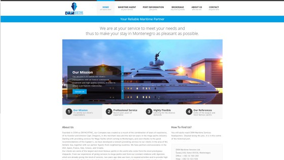 Web dizajn i programiranje - izrada web stranica - DRM Maritime - Split, Dalmacija, Hrvatska