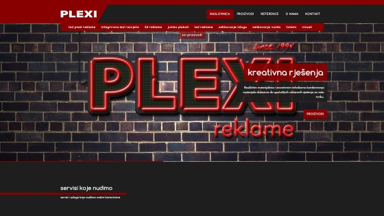 Izrada web stranica - web dizajn i programiranje - Plexi Reklame - Split, Dalmacija, Hrvatska