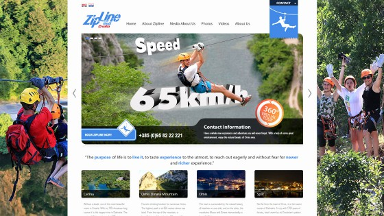 Izrada web stranica - web dizajn - Zipline Croatia - Split, Dalmacija, Hrvatska